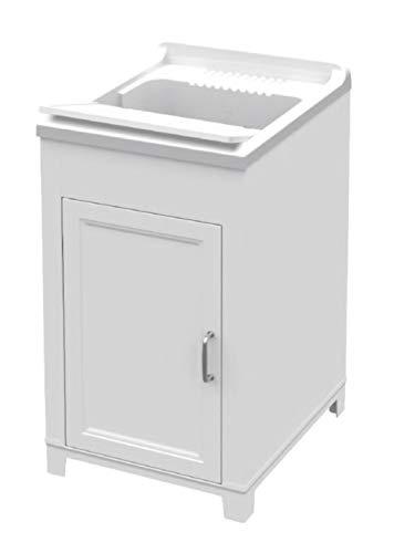 Adventa 9Q102C98-Mobile e lavapanni in Resina con 1 Anta, Interno/Esterno, Bianco, 45 x 50 x 85 cm