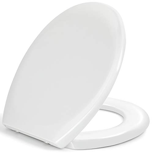 Toilet Seat, Soft Close Toilet Seats White with Quick Release for Easy Clean,...