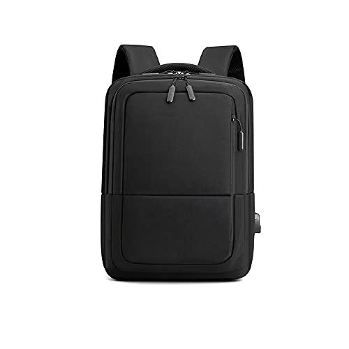 Kfhfhsdgsamsjb Mochila portátil Masculina Masculina Impermeable 15.6 USB CARGURA ANTIBRA DE LA Escuela DE Viaje DE Trabajo para Hombres (Color : Black)