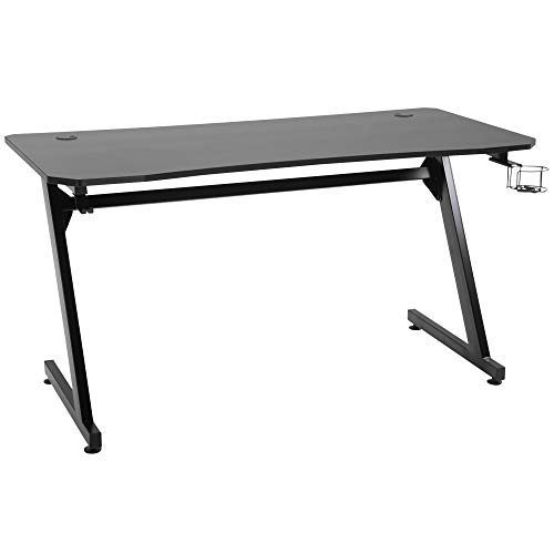 HOMCOM 55' Gaming Desk Computer Table Metal Frame with Cup Holder,...
