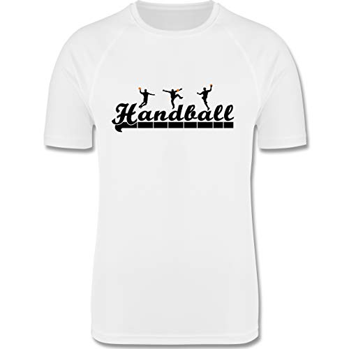 Sport Kind - Handball Sturm Torwart Schriftzug - 104 (3/4 Jahre) - Weiß - Handball Torwart - F350K - atmungsaktives Laufshirt/Funktionsshirt für Mädchen und Jungen