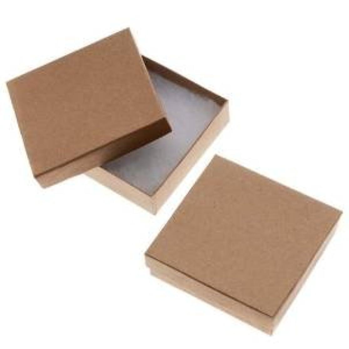 20 Pack Kraft 3.5 X 3.5 X 1 Inch Size Cotton Filled Jewelry Presentation Gift Boxes bdcvznei4