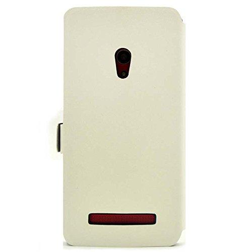 『【ECMAX】 ホワイト ASUS ZenFone 5 A500KL ケース カバー 手帳型 PUレザー素材 自動スリープ スタンド機能付き ECMAX正規代理品』の3枚目の画像