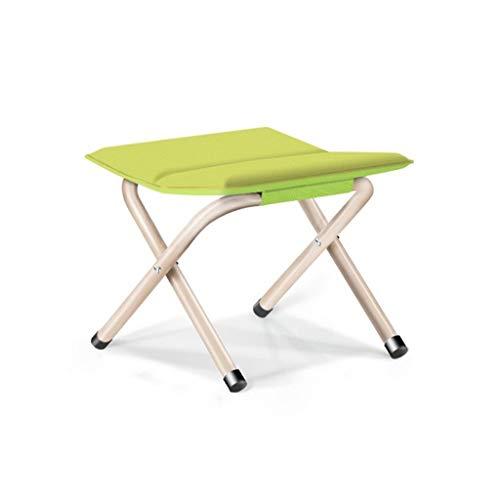 Kleine Kruk, waterdicht eenvoudig te reinigen Camping Stoelen Adult Kruk Portable Met Kruk Gemakkelijk om tegemoet krukjes Folding Kruk (Color : Green, Size : 35 * 30 * 33CM)