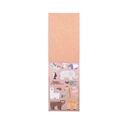Lote 30 libretas de cartón con 13 Pegatinas de Animales y 8 Plantillas con paisajes para Colorear. Incluye Pegatina Personalizada.