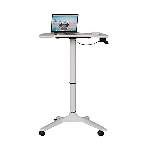 NBVCX Life Decoration Lectern Movable Lecture Table Adjustable Standing Computer Desk School Teacher Podium for Home Company Podiums (Color : White Size : One Size)