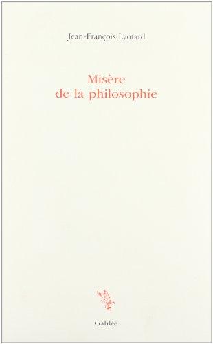 Misère de la philosophie (Incises)