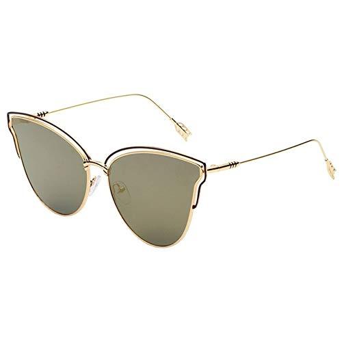 Gafas de Sol Gafas De Sol De Plumas Simples Gafas De Sol con Protección UV Gafas De Moda protección para los Ojos (Color : D)