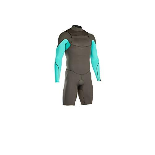 ION Onyx Element 2/2 Chest Zip LS Shorty 2020 - Pantalones Cortos, Color Verde Oscuro y Azul, Unisex Adulto, Medium