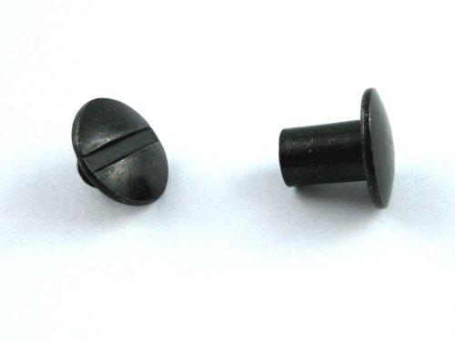 Chicago Screws - 10 Stück (schwarz) - Für den Holster- und Messerscheidenbau