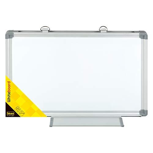 Idena 568024 - Whiteboard mit Aluminiumrahmen und Stiftablage, ca. 40 x 30 cm groß, zur Wandmontage geeignet, ideal für das Büro und zu Hause