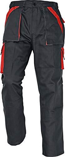 Stenso MAX - Herren Praktisch Arbeitshose Bundhose/Cargohose Baumwolle Schwarz/Rot 60