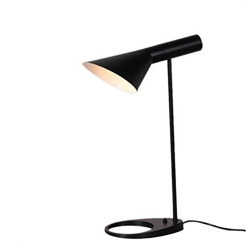 Lampara de mesa Hierro Simple Lámpara De Mesa De Noche Creativa Dormitorio Moderno De Ingeniería De Diseño De Moda Lámpara De Lectura Forjado Lámparas LED Lámpara De Mesa De Dormitorio Lampara estudio