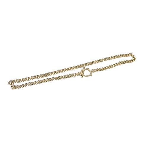 WOIA Cadena Gruesa OT Hebilla Cadena de clavícula Simple Collar Femenino Regalos románticos, Dorado