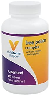 The Vitamin Shoppe Bee Pollen Complex 1,000MG, Superfood with Bee Propolis and Royal Jelly, Seasonal Immune System Support (100 Tablets)