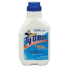 Ty-D-Bol Blue In-Tank Liquid Toilet Cleaner 12 oz (Pack of 5)