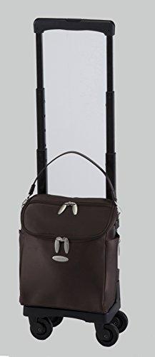 [スワニー] キャリーバッグ D-291ジップIV(M18) ダークブラウン 三愛オリジナル折りたたみサブバッグ付