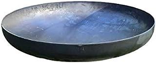SteelArt Klöpperboden 60cm, Feuerschale, Feuerstelle, Feuerkorb, Grill aus Stahl, Grill ohne Füße, für Terrasse & Garten