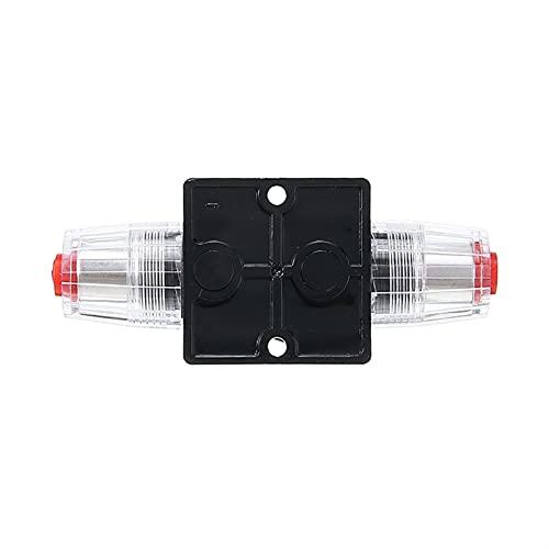 WSFANG Interruptor de Coche 1pc Car Auto Carro Estéreo Audio 12V Disyuntor Fusible Enline Fits 4 8 Gauge Wild 40A Manual Manual Circuito PUSPURE Herramienta Black Automóviles, Camiones, etc.