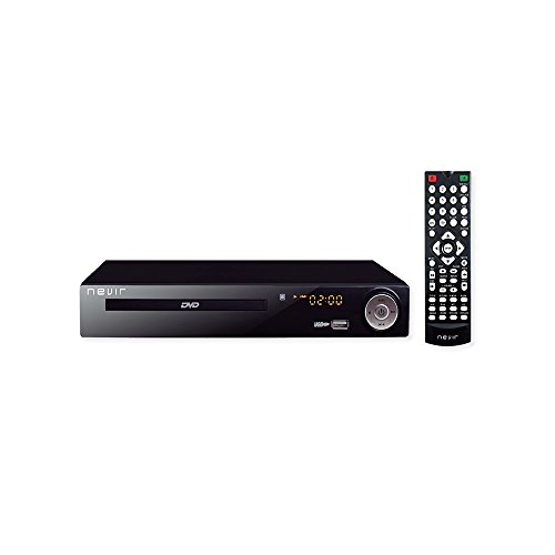 Nevir NVR-2355DVD - Reproductor DVD (TDT HD, 1080p, USB), Color Negro
