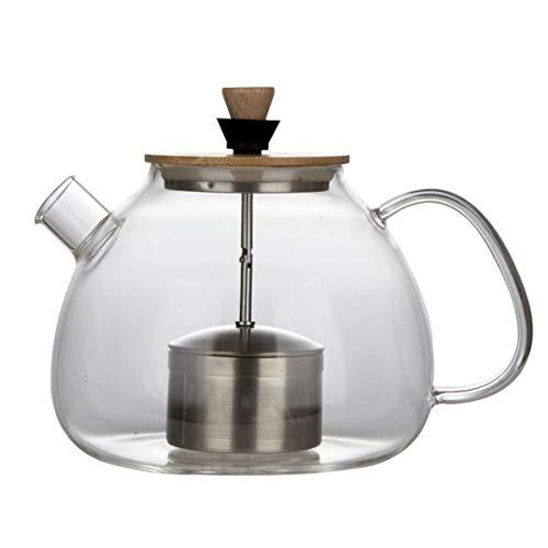 AlixinDssm Pot della Caffettiera del tè dei Riscaldatori Ceramici Elettrici Termoresistenti,Teiera Caffettiera Brocca con Infusore Acciaio Inox.Teiera Foglia Sciolta. (1600ML)