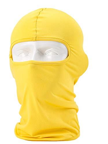 MedusaABCZeus Pasamontañas 3 Agujeros,Capucha de protección Facial para Ciclismo al Aire Libre, Que Cubre la Capucha de la Cara -23,Pasamontañas Negra Máscara 3 Agujeros