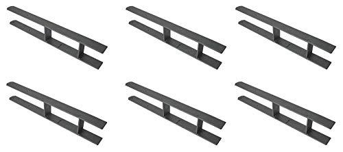 8 X Pfostenanker H-Träger 600X50X5 mm für 121mm / 120mm (12,1cm/12cm) Balken H-Anker Carport Pfostenträger Zaun Geländer