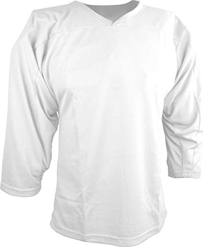 Sports Unlimited Youth Hockey Practice Jersey, White, S/M