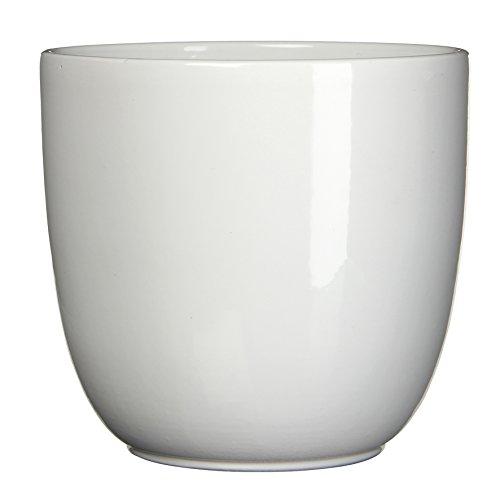 MICA Decorations 144693 Tusca Cache-Pot en céramique pour l'intérieur, Céramique, Blanc, 39 x 39 x 34,5 cm