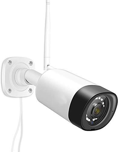 REIGY 3MP Telecamera IP Wi-Fi Audio Bidirezionable, Videocamera Sorveglianza da Esterno Senza Fili Impermeabile Super Night Vision Allarme APP Compatibile con iOS/Android