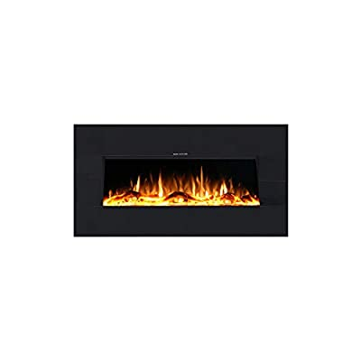 Ezee Glow Zara Mini Black Wall Mounted or Recessed/Built in Electric Fire