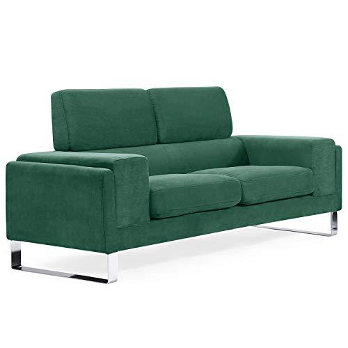 Canapé 2 places Velours Contemporain Confort Vert