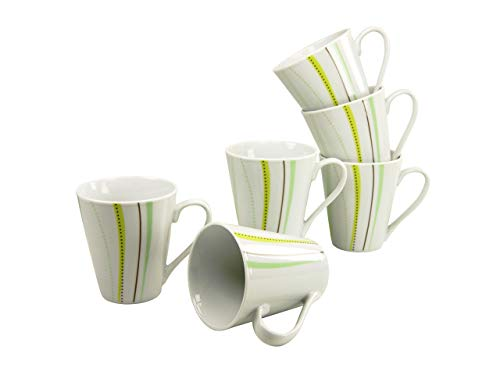 Creatable Kaffeebecher Set 6 teilig, Porzellan, Mehrfarbig