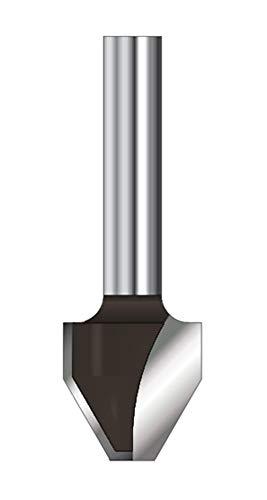 ENT 12190 Schriftenfräser HW (HM), Schaft (C) 8 mm, Durchmesser (A) 4,5 mm, B 15,1 mm, E 60°, D 32 mm, flach