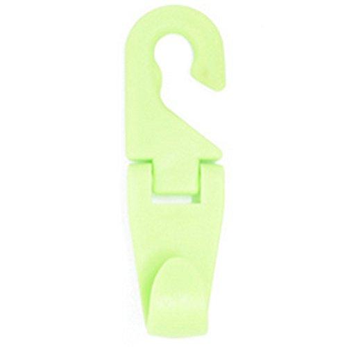CAOLATOR Universal Appuie-Tête Mini Cintre Crochet à Suspendre au Support de Repose-tête du Siège-arrière de Voiture Crochets pour Bagages/Vêtements/Bourse/Sac De Sport. 2PCS Vert