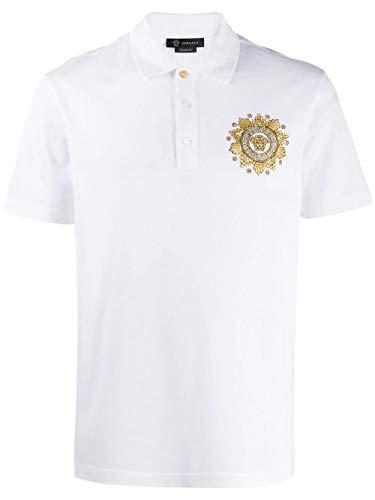 Versace Luxury Fashion Herren A85111A231240A2088 Weiss Baumwolle Poloshirt | Frühling Sommer 20