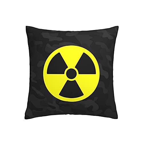smartgood Símbolo de radiación ionizante Funda de Almohada Decorativa Dormitorio Regalos Divertidos Decoración Funda de cojín 45X45cm