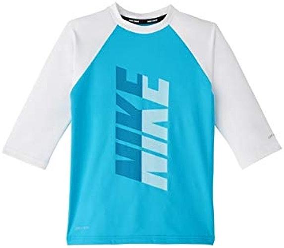Nike Swim Maillot de Bain à Manches Courtes pour Homme Bleu Clair