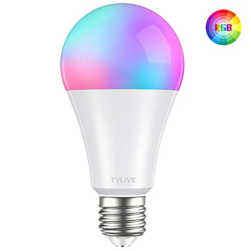 Bombilla LED Inteligente WiFi, TVLIVE 10W Bombilla LED Luces