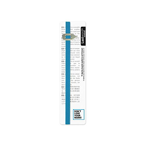 Lastword Bookmarks - Elastic bookmark Perfect for Any Book - book markers for women - bookmarks for men - bookmarks for kids - Don't Lose Your Mark, Design Made in Italy book marks (Blu)