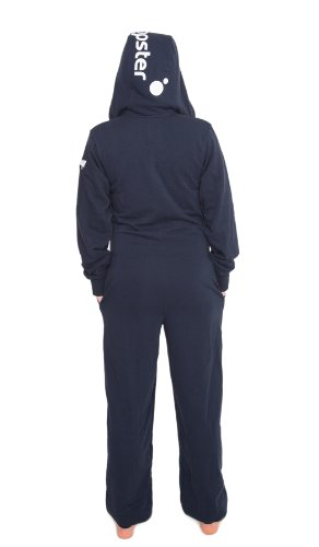 Jumpster Damen und Herren Jumpsuit Langer Overall Second G. Slim Fit Deepest Blue Blau - 2