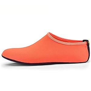 ALWAYS ME Snorkeling Socks Shoes Nor-Scratch Diving Socks Neoprene Snorkel Fins Anti-Slip Flippers,Orange,M