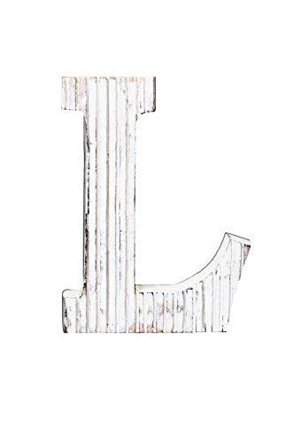 Kaizen Casa Wooden Letter Alphabet L Vintage Handcraft Wall Home Décor