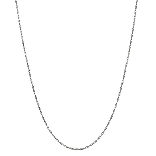 Bling For Your Buck Sterling Silver 1.5mm Italian Twisted Curb Chain Necklace - 24'