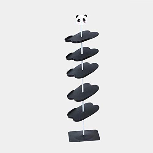 MIAO Scarpiera per Adulti Tridimensionale Cartoon Scarpiera da Terra Scarpiera Verticale (Modelli per Adulti, SixFloors-Black