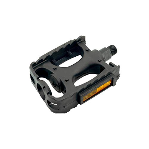 1 par de pedales reflectores con rosca W-9/16, para bicicleta de montaña