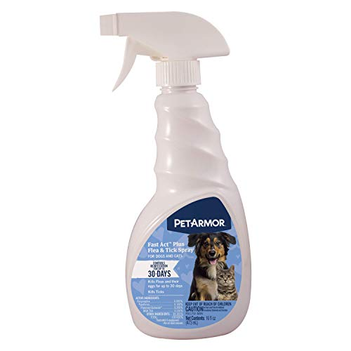 Sergeant's Pet Products 2593 Pet Armor Fast Act Plus Flea & Tick Spray Dog/Cat