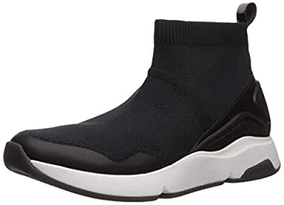 Cole Haan Women's Zerogrand All-Day Slip ON with Stitchlite Sneaker, Knit/Black Leather/Optic White