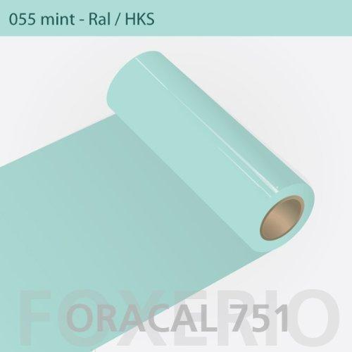 Orafol - Oracal 751 - 31cm Rolle - 5m (Laufmeter) - Mint / hochglänzend, A77oracal - 751 - 31cm - 06 - kl - Autofolie / Möbelfolie / Küchenfolie