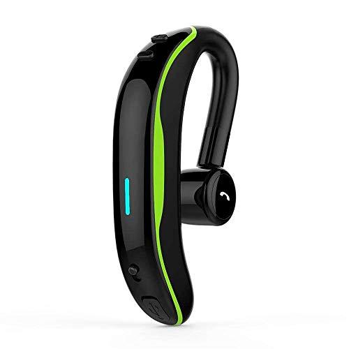 Bluetooth Headset,TABCase HD Stereo Mic Earpiece Noise Cancellation Wireless Earbud Sport Sweatproof Headphone Handsfree for iOS Android Phones Car Driver Trucker Business Office Men Women (緑色)